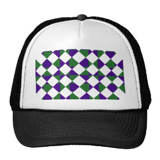 Green and Purple Reverse Plaid Trucker Hat