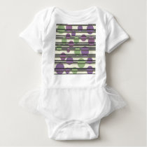 Green and purple simple pattern baby bodysuit