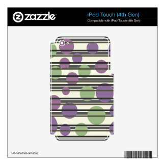 Green and purple simple pattern iPod touch 4G skin