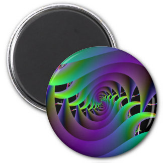 Green and Purple Spiral Magnet