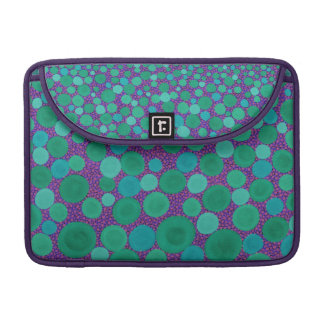 Green and Purple Spotted MacBook Pro Sleeves. Sleeve For MacBook Pro