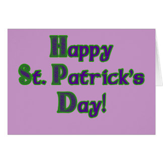 Green and Purple St. Patrick's Day shirts Card