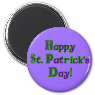 Green and Purple St. Patrick's Day shirts Magnet