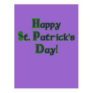 Green and Purple St. Patrick's Day shirts Postcard