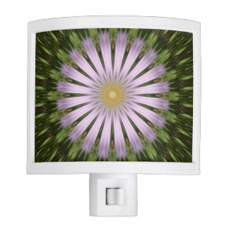 Green and Purple Starburst Night Light