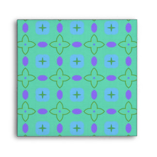 Green and Purple Stars Envelope