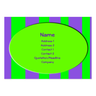 green and purple stripes business card
