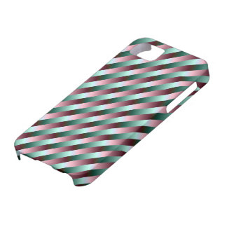 Green and Purple Stripes iPhone 5 Case