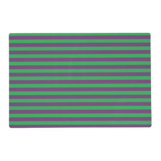 Green and Purple Stripes Laminated Placemat
