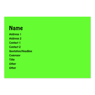 Green and purple stripes photo frame business card