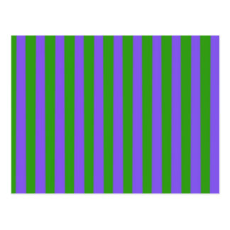 Green and Purple Stripes Postcard