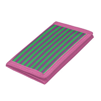 Green and Purple Stripes Wallet