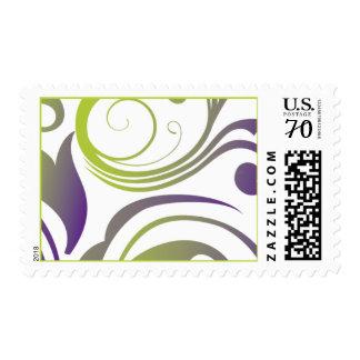 Green and Purple Swirl stamp
