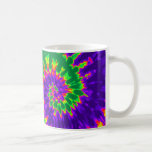 Green and Purple Tie Dye Coffee Mug