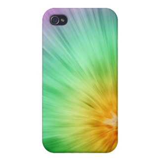 Green And Purple Tie Dye iPhone 4/4S Case