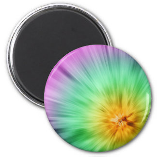 Green And Purple Tie Dye Magnet