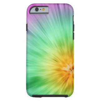 Green And Purple Tie Dye Tough iPhone 6 Case
