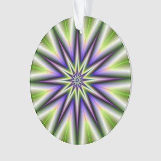 Green and Purple Time Star Ornament