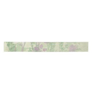 Green And Purple Watercolor Ribbon Satin Ribbon