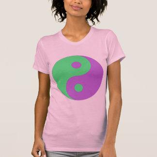 Green and Purple Yin Yang Tee Shirt