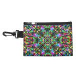 Green and Rainbow Mandala Pattern Accessory Bag