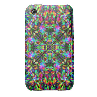 Green and Rainbow Mandala Pattern iPhone 3 Case-Mate Case