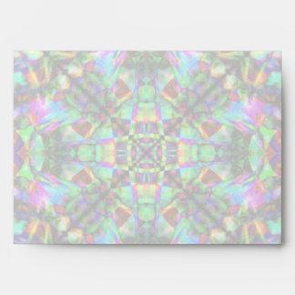 Green and Rainbow Mandala Pattern Envelope