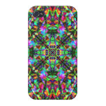 Green and Rainbow Mandala Pattern Cover For iPhone 4