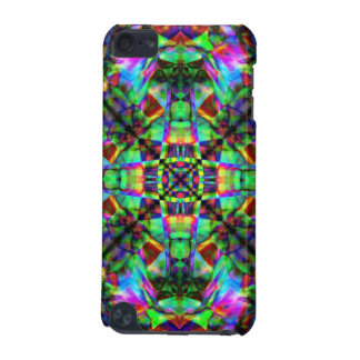 Green and Rainbow Mandala Pattern iPod Touch 5G Cover