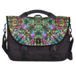 Green and Rainbow Mandala Pattern Laptop Commuter Bag