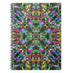 Green and Rainbow Mandala Pattern Notebook