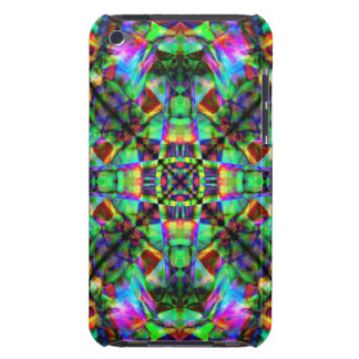 Green and Rainbow Mandala Pern Barely There iPod Cover