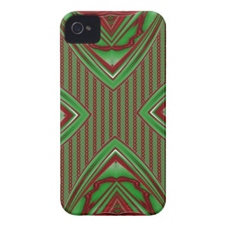 green and red abstract pattern case iPhone 4 cover