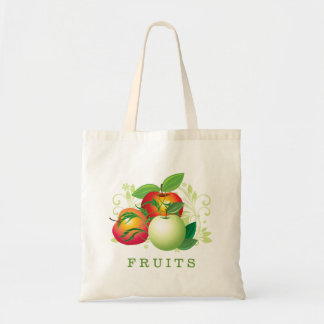Green And Red Apples Illustration Tote Bag