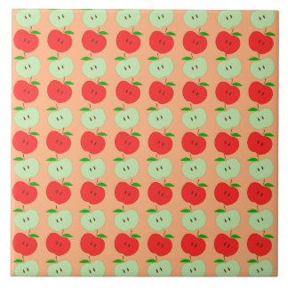 Green and Red Apples Pattern Tile