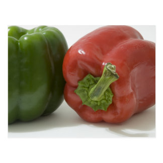 Green and Red Bell Peppers Postcard