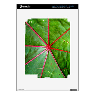 Green and Red Castor Leaf Skin For iPad 3