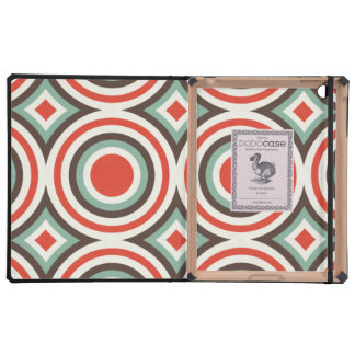 Green and red circles iPad folio case
