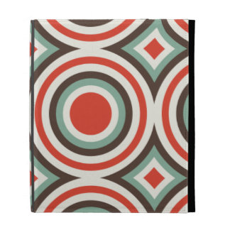 Green and red circles iPad folio cases