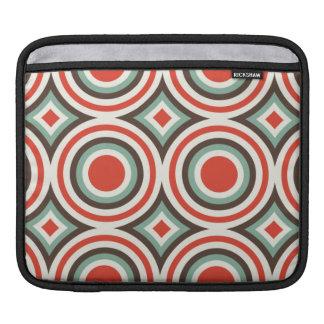 Green and red circles iPad sleeves