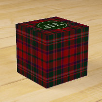 Green and Red Clan Stewart Plaid Favor Gift Box