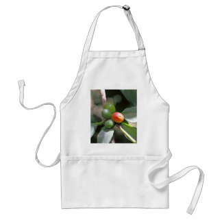 Green and Red Coffee Beans Adult Apron