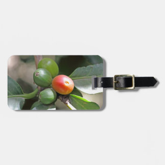 Green and Red Coffee Beans Luggage Tag