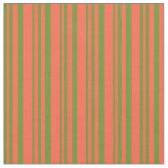 [ Thumbnail: Green and Red Colored Pattern Fabric ]