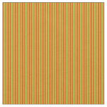 [ Thumbnail: Green and Red Colored Striped Pattern Fabric ]