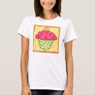 Green and Red Cupcake Tee Shirt