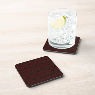 Green and Red Diamond Pattern Coaster Set