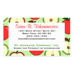Green and Red Half Apple Print Business Card Templates