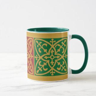 Green and Red Holiday Coffee Mug