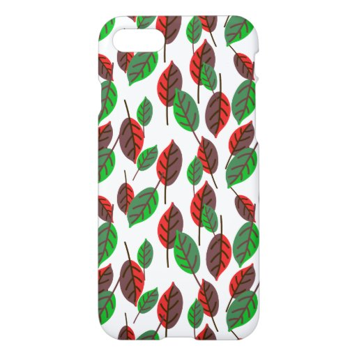 Green and Red Leafs iPhone 8/7 Case